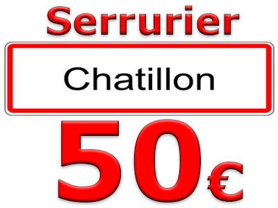Ouverture porte Claquée Chatillon